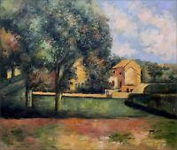 Quality Hand Painted Oil Painting Repro Paul Cezanne The Jas de Bouffan 20x24in