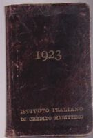 AGENDINA PUBBLICITARIA 1923 ISTITUTO ITALIANO DI CREDITO MARITTIMO - C2