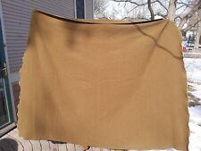 """Vintage Dark Olive Green US Military Army 65"""" x 89"""" Wool Bed Blanket"""