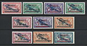 DR Memel WWI German Rare WWI Stamps 1922 Air Mail Avia Overprint FLUGPOST 72-83