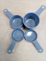 Vtg RUBBERMAID Country Blue - 4 MEASURING CUPS 1/4, 1/3, 1/2, 1 Cup