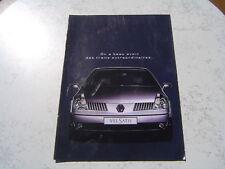 Catalogue publicitaire Renault Velsatis 2002 8 pages brochure prospectus
