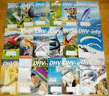18x DHV-info 2017 2016 2015 komplett Jahrgang Drachen Gleitschirmflieger Zeitsch