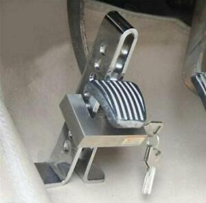 Universal Car Steel Anti-Theft Security Supplies Device Clutch Brake Lock Chrome