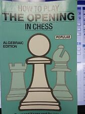 Chess How to Play the Opening in Chess Raymond Keene Batsford Chess Library: