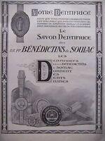 PUBLICITÉ 1925 BÉNÉDICTINS DE SOULAC LE SAVON DENTIFRICE - ADVERTISING