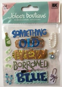 """Jolee's Boutique """"Something Blue"""" Dimensional Stickers *NEW*"""