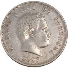 [#150806] PORTUGAL, 500 Reis, 1903, KM #535, AU(50-53), Silver, 30, 12.44