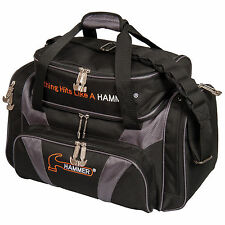 Hammer Premium Deluxe Double Tote 2 Ball Bowling Bag Carbon