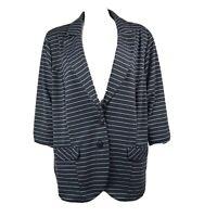 TORRID Gray Silver Striped Blazer Suit Jacket Womens Plus Size 4
