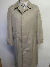 Genuine Vintage Burberry Prorsum Light Olive Raincoat Coat Mac Size 38 Euro 48 S