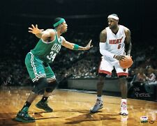 LeBron James & Paul Pierce Signed 16x20 Photo *Lakers/Celtics PSA/Upper Deck