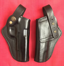 Black Leather RH Holster for Colt M 1911 S&W adjustable strap formed molded, New