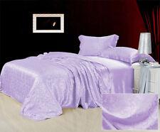 100% Seide Bettwäsche Bettbezug Set Kissenbezug mit Spitze Jacquar 4-tlg ZSB0020