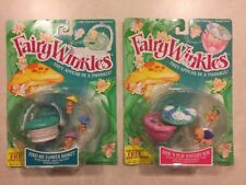 Lot of 2 Vintage Fairy Winkles Find Me Flower Basket and Hide N Play Jewelry Box