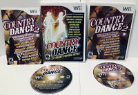 Wii 2 Game Lot ! Country Dance and Country Dance 2 !  Nintendo Wii ! Tested ! 🔥