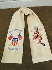 Ww2 China Burma India Silk Scarf 1945 Cbi Theatre Original