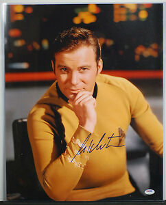 PSA/DNA SIGNED 16X20 PHOTO WILLIAM SHATNER 139