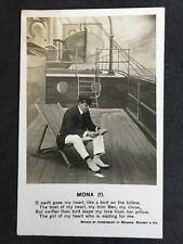 Vintage Postcard - Bamforth Song Card #75 - Mona (1)
