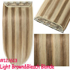 100% Real Human Hair Extensions Clip in 1pcs 5 clips Various Color Full Head MY