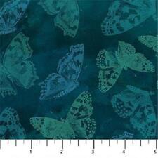 Northcott Mystic Garden Teal Butterfly Floral Blue Green Quilt Fabric  21064 65