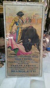 Cartel Noticiarios y Documentales presenta Toros y Toreros Manolete Nodo Sevilla