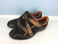 Timberland Brown Leather Oxford Strap casual career shoe Women Comforia 6 EUC *