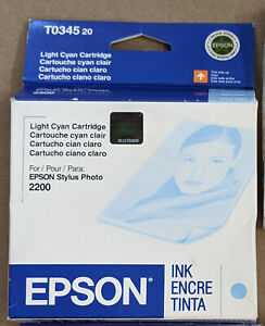 New Genuine Epson Stylus Photo T0345 T034520 Light Cyan Ink