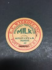 HTF EC Wyckoff Inc Milk Bottle Cap Lid Port Murray NJ New Jersey