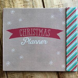 Christmas Planner Hardback Book Shopping Gift Present Organiser Xmas inc Sticker