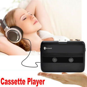 3.5mm Jack Portable Cassette Player FM Radio Black Auto-reverse w/Earphones