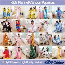 Kids Fleece Unisex Kigurumi Animal Pajamas Cosplay Costume Sleepwear