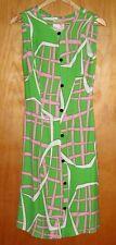 VINTAGE DRESS 'La Parisienne' by Michel, size SSW, linen & rayon