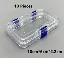 10pcs Denture False Teeth Hinged Display Box Acrylic Jewelry Clear Membrane Case