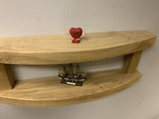 Solid Wood  Offcuts  Wall Shelf Handmade Two Tier Large