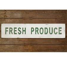 Fresh Produce Vintage Look Embossed Metal Wall Sign