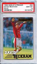 David Beckham rookie-Merlin Premier Dorado 96/97 - PSA 10 (Mega Raro)