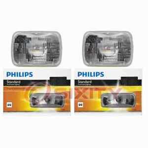 2 pc Philips High Low Beam Headlight Bulbs for GMC C1500 C1500 Suburban dh