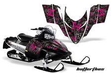 AMR Racing Sled Wrap Polaris Switchback Snowmobile Graphics Kit 06-10 BFLY PINK