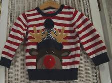 MINI REBEL Baby Reindeer Shirt 12–18 mos / 86 cm Rudolf Christmas Winter Unisex