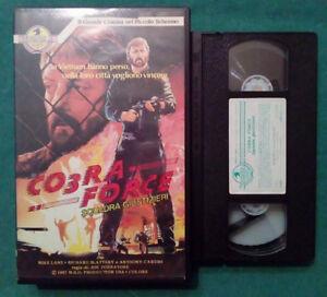VHS Film Ita Azione COBRA FORCE Squadra Giustizieri Mike Lane nolo no dvd (V74)