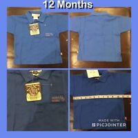 NEW! Boy's 12 Months Rebble Pebble Shirt Blue 100% Cotton New W/Tags!