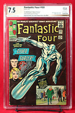 FANTASTIC FOUR #50 PGX 7.5 VF- Very Fine Minus signed by STAN LEE! HTF!!! +CGC!!