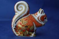 ROYAL CROWN DERBY AUTUMN SQUIRREL PAPERWEIGHT - NEW - UNBOXED SECOND QUALITY