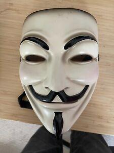 DC Direct Gallery V FOR VENDETTA Guy Fawkes Movie Replica Mask w COA # 75 /500