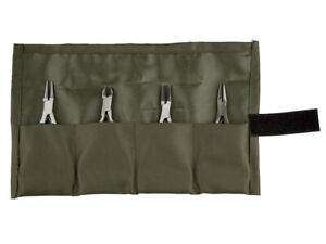 Cooksongold Essentials 4pc. Jewellery Making Pliers Set, In Canvas Wallet
