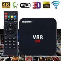 Scishion V88 4K UHD Smart TV Box 8GB H.265 Internet TV Media Streamer Player UK