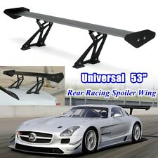 Universal 53'' Aluminum Black Adjustable GT-Style Rear Car Trunk Spoiler Wing US