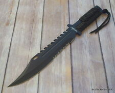 13.5 INCH OVERALL SURVIVOR FIXED BLADE HUNTING KNIFE FULL TANG STAINLESS STEEL