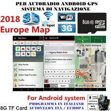 PROGRAMMA AUTORADIO ANDROID 8 GB MAPPE EUROPA COMPLETA 02/18 Velox 04/18